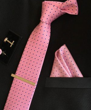 Veľká kravatová sada 12 - kravata+manžetové gombíky+spona+vreckovka (Kópia)