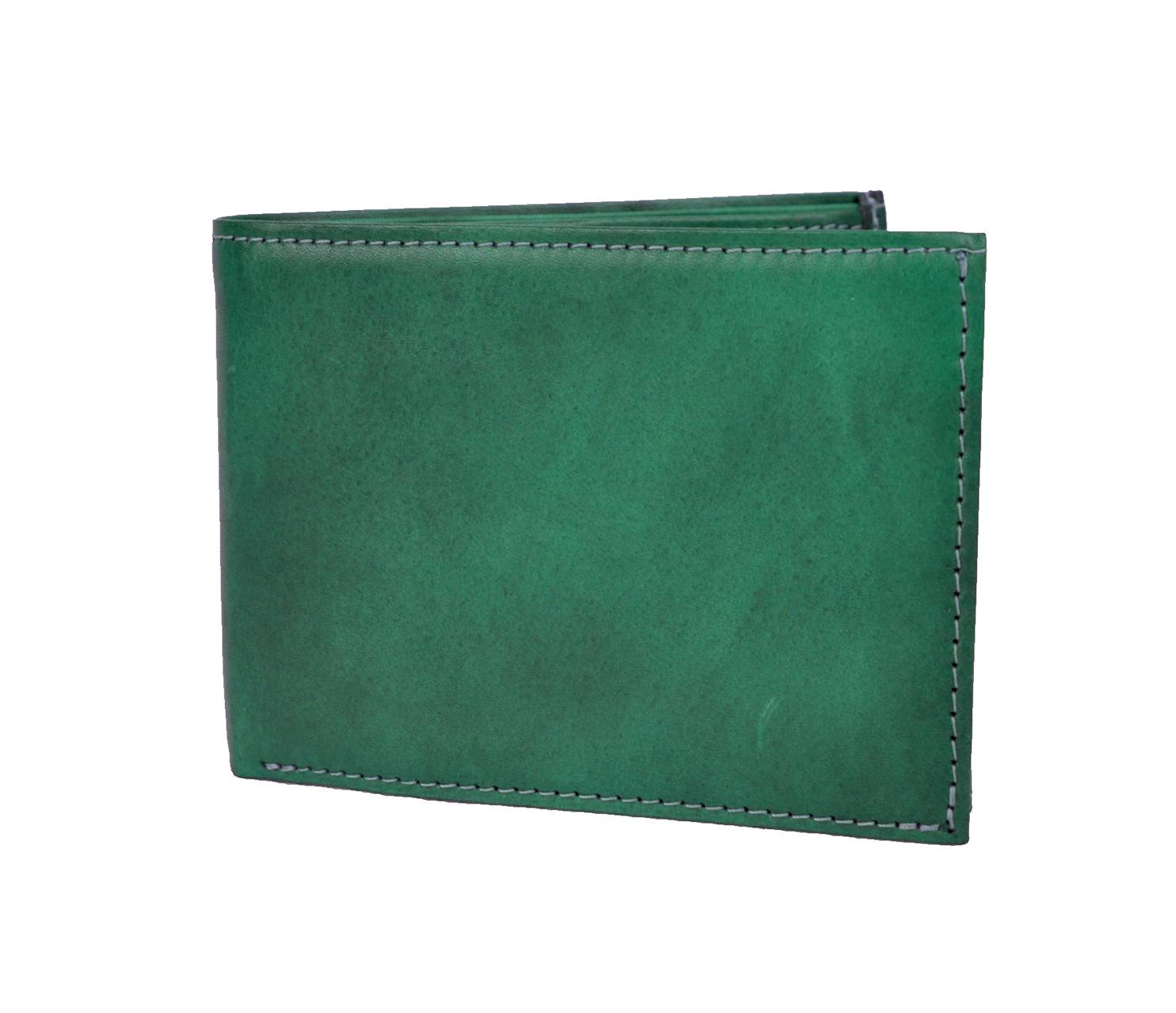 1fe7694656 57.00 €. Pánska elegantná peňaženka z pravej kože č.8552 v tmavo zelenej  farbe.