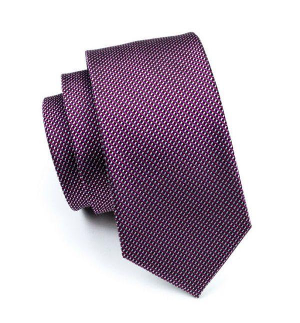Pánska kravata z hodvábu s jemným fialovým vzorom