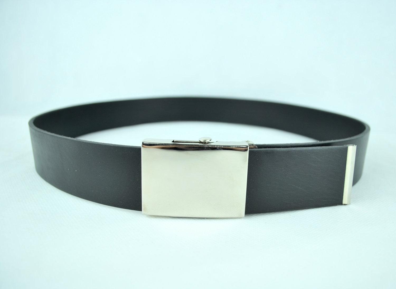 ad479d569 Pánsky kožený opasok 4cm, čierny - plná pracka