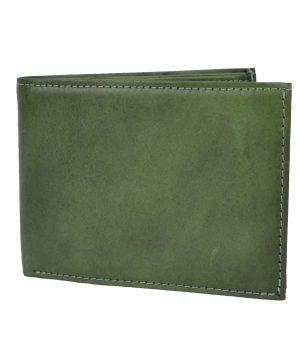 Pánska elegantná peňaženka z pravej kože č.8552 v zelenej farbe