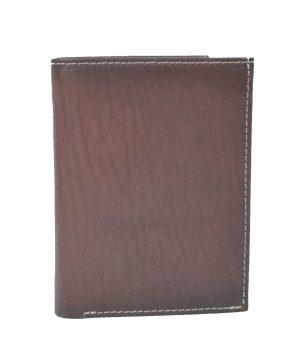 Pánska luxusná kožená peňaženka č.8560 v tmavo hnedo fialovej farbe (3)