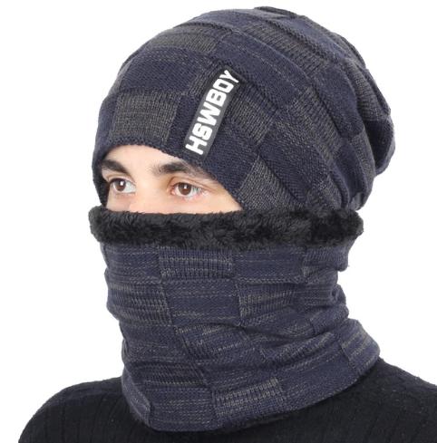 Bavlnená pánska čiapka a bavlnený šál golier v niekoľkých farbách 81f23da4cc6