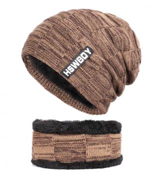 Bavlnená pánska čiapka a bavlnený šálgolier v niekoľkých farbách