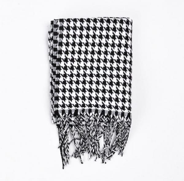Bavlnený pánsky zimný šál - moderná kohútia stopa ( 180 x 35 cm )