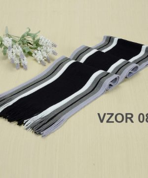 Bavlnený pánsky zimný šál v niekoľkých vzoroch ( 180 x 23 cm )