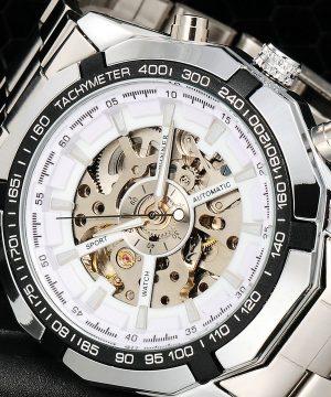 Luxusné analógové pánske hodinky so samo-natáčacím mechanizmom