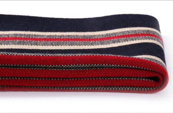 Kvalitný pánsky šál z vlny a bavlny ( 180 x 30 cm ) - Vzor 10