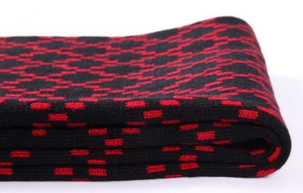 Kvalitný pánsky šál z vlny a bavlny ( 180 x 30 cm ) - Vzor 12