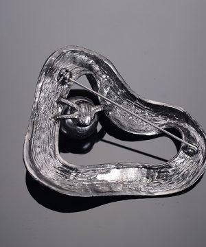 Luxusná ručne leptaná pánska brošňa na šaty - abstract