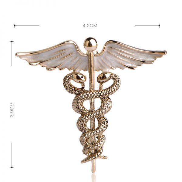 Prepracovaná brošňa pre pánov v tvare spletených hadov