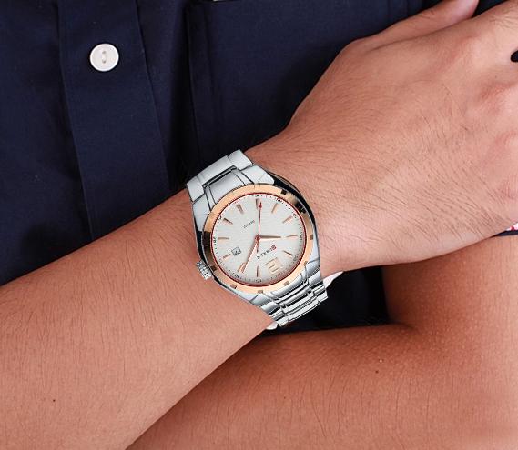 Kvalitné analógové pánske hodinky business z chirurgickej ocele
