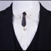 Luxusná pánska brošňa na šaty v tvare miniatúrnej čiernej kravaty