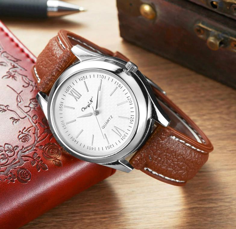 e410205ea Luxusné ručičkové pánske hodinky so zapaľovačom - hnedý remienok