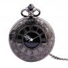 Luxusné vreckové pánske hodinky v čiernej farbe s retro ciferníkom