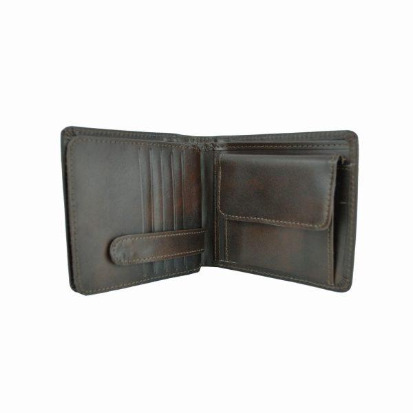 Peňaženka z prírodnej kože č.7992 v tmavo hnedej farbe (3)