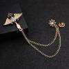 Prepracovaná pánska brošňa na šaty - zlaté armádne krídla