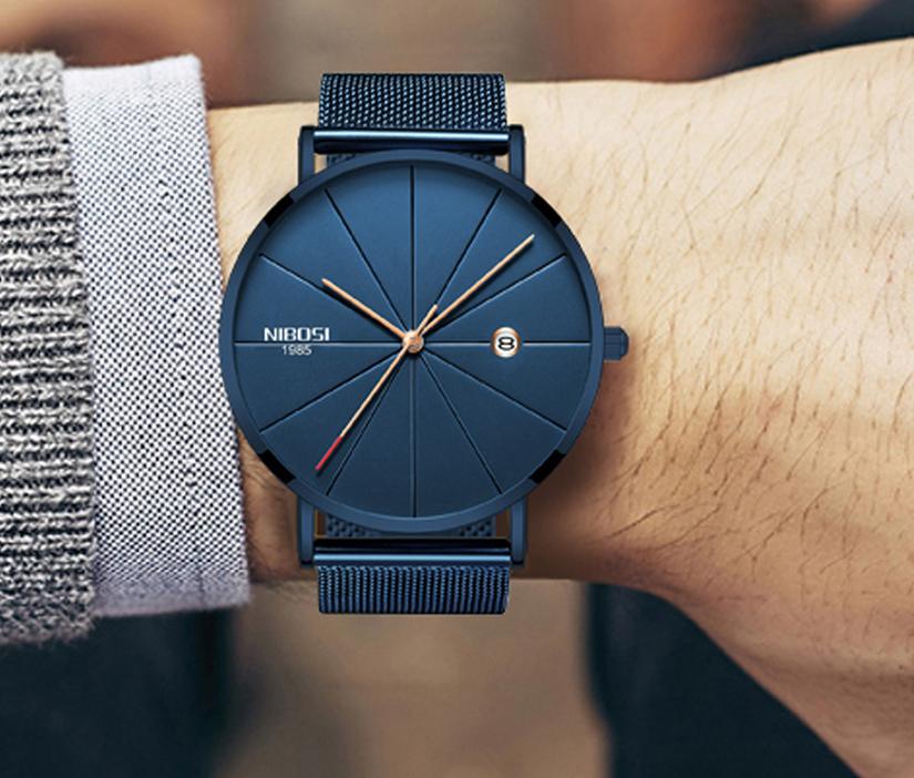9dcfe2844f3c Ultra-tenké dizajnové pánske hodinky s remienkom z milánskej ocele