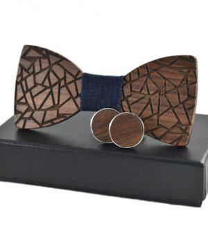 6eec3d8f9 Pánsky set - drevený motýlik + manžety vo viacerých farbách