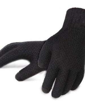 Zimné pánske rukavice s možnosťou ovládať mobilný telefón