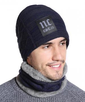 Zimný set - pánska čiapka a bavlnený šálgolier v niekoľkých farbách
