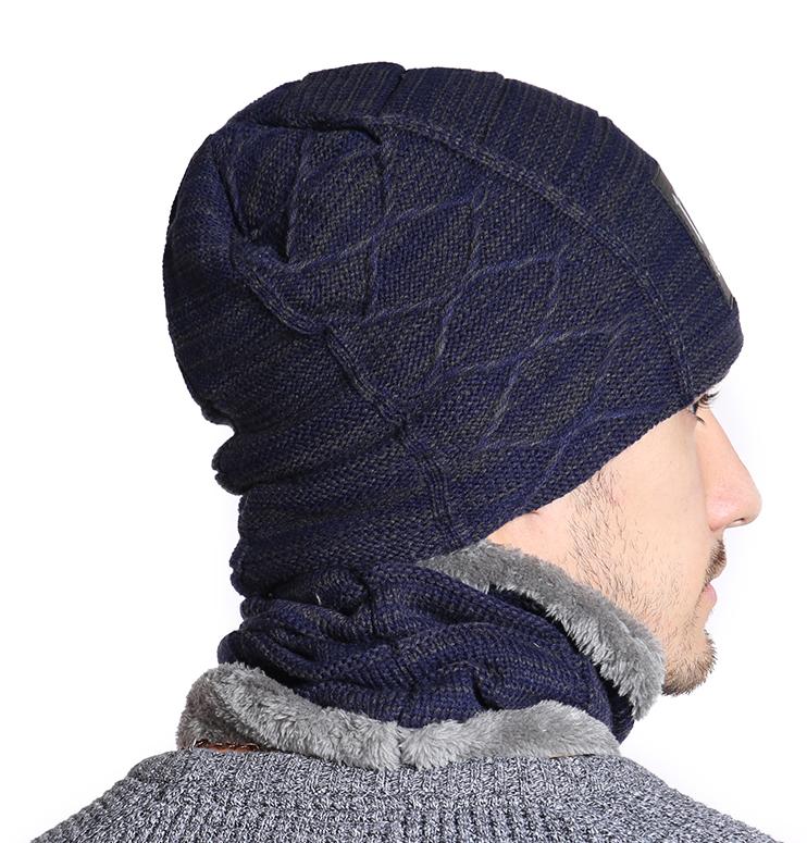 7e23ad474 Zimný set - pánska čiapka a bavlnený šál/golier v niekoľkých farbách
