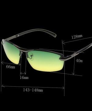 Špeciálne pánske okuliare na nočnú jazdu s tmavo-sedým rámikom