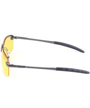 Špeciálne pánske okuliare pre šoférov so strieborno-sedým rámikom