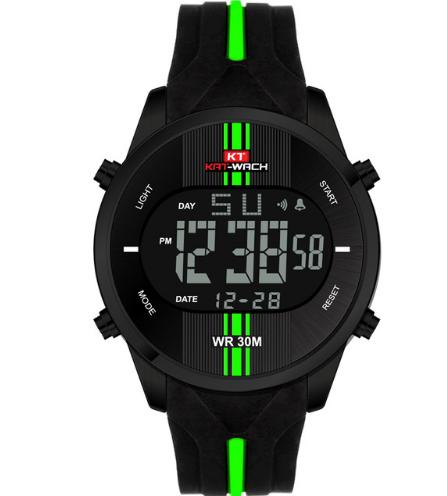 Športové pánske digitálne hodinky s nadčasovým dizajnom vo viac farbách