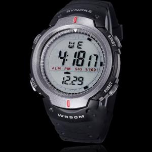 Športové vodotesné pánske digitálne hodinky v sivej farbe ... 7d4fa889382