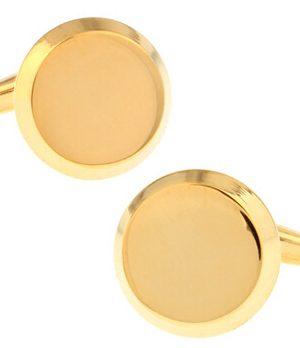 Štýlové manžetové gombíky, manžety v minimalistickom zlatom prevedení