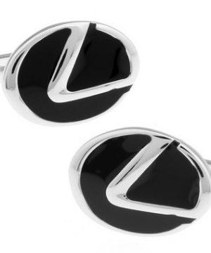 Štýlové manžetové gombíky, manžety v striebornej farbe s logom Lexus