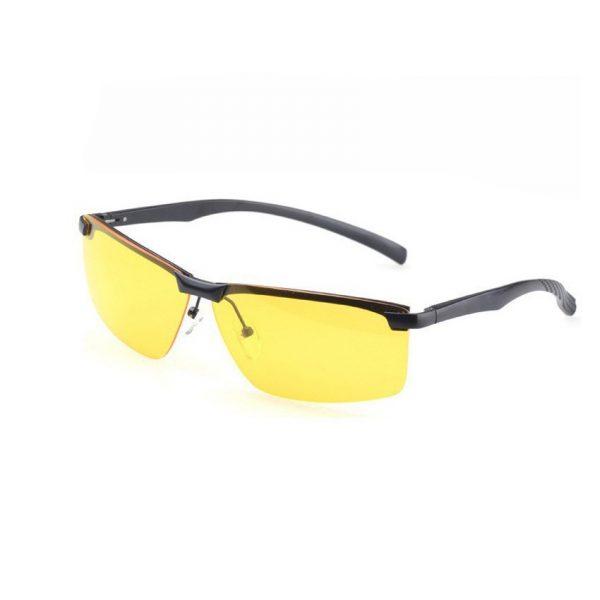 Štýlové pánske okuliare na nočnú jazdu s čiernym rámikom