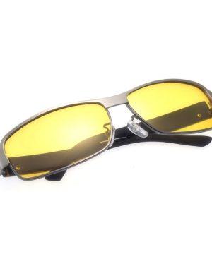 Štýlové pánske okuliare pre šoférov na noc so sivo-strieborným rámikom