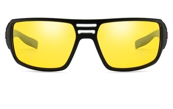 Štýlové pánske polarizované okuliare na jazdu v noci, daždi a hmle