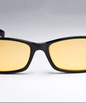 Decentné pánske okuliare na počítač aj na nočnú jazdu - zlaté