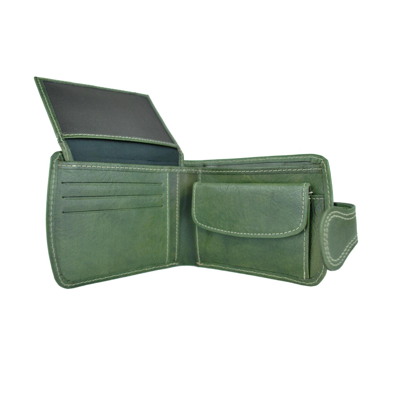 Pánska kožená peňaženka č.8467 v zelenej farbe 60601c58efa