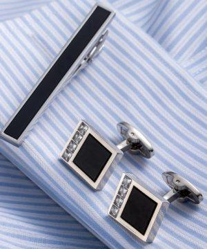 Elegantný pánsky set - manžetové gombíky a kravatová spona model11