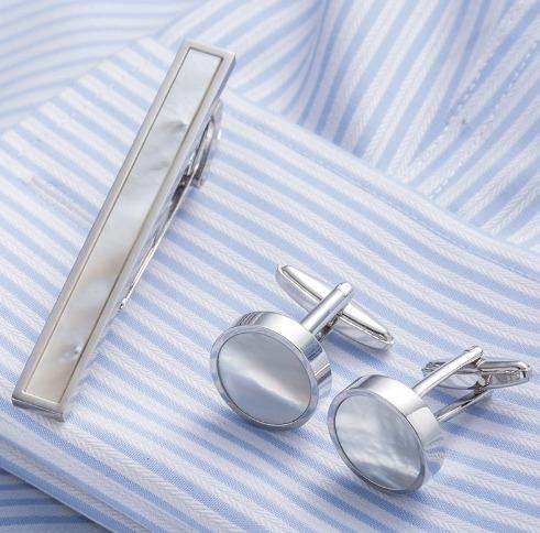 Elegantný pánsky set - manžetové gombíky a kravatová spona model12