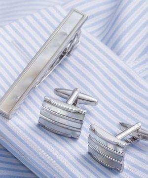 Elegantný pánsky set - manžetové gombíky a kravatová spona model13v