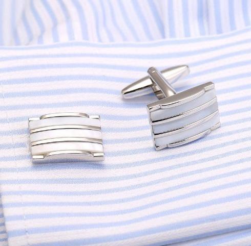 Elegantný pánsky set - manžetové gombíky a kravatová spona model13