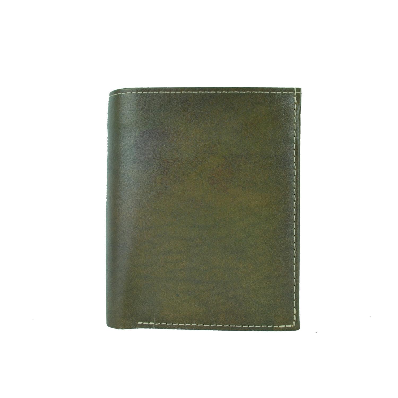 3496c19b1 Luxusná kožená peňaženka č.8560 v tmavo zelenej farbe, ručne tieňovaná