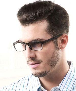 Kvalitné pánske okuliare na prácu s počítačom s ľahčeným modrým rámikom