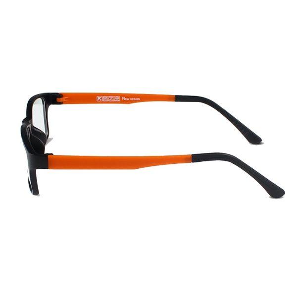 Kvalitné pánske okuliare na prácu s počítačom s ľahčeným pomarančovým rámikom