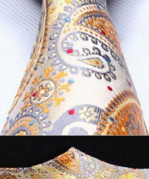 Luxusný pánsky kravatový set - kravata + vreckovka, vzor 31