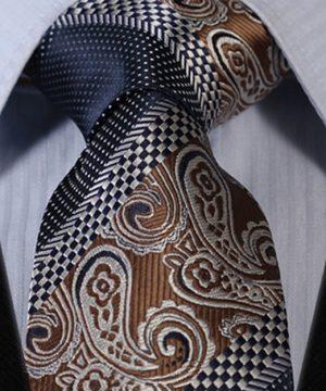 Luxusný pánsky kravatový set - kravata + vreckovka, vzor 32