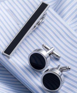 Luxusný pánsky set - manžetové gombíky a kravatová spona model01