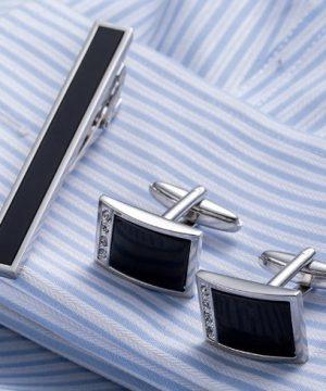 Luxusný pánsky set - manžetové gombíky a kravatová spona model03