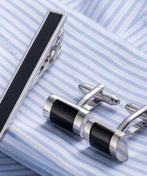 Luxusný pánsky set - manžetové gombíky a kravatová spona model04