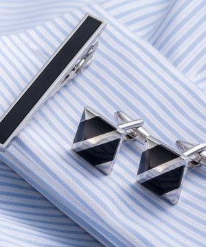 Luxusný pánsky set - manžetové gombíky a kravatová spona model05